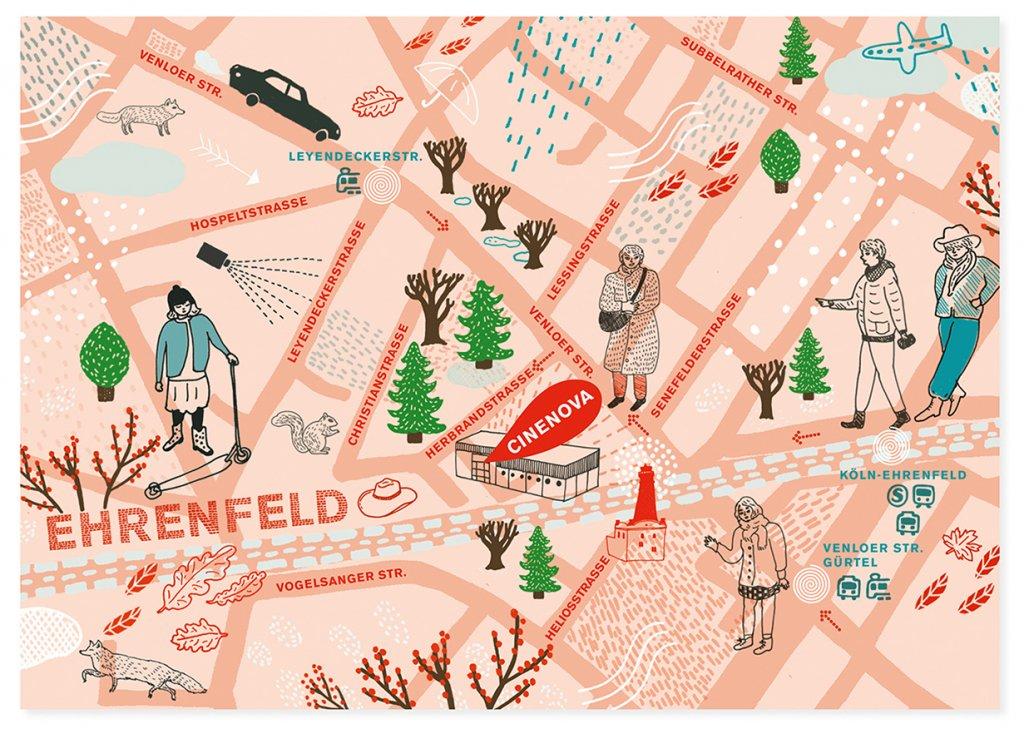 Postkarte Wintersaison Cinenova