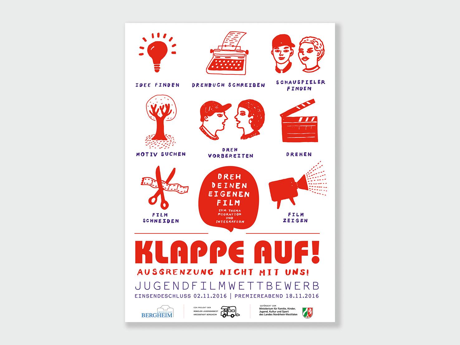 Plakat Klappe auf, Jugendfilmwettbewerb